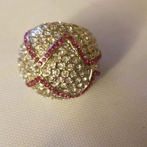 Jewelry - Yellow bubble ring, costume, size 9?